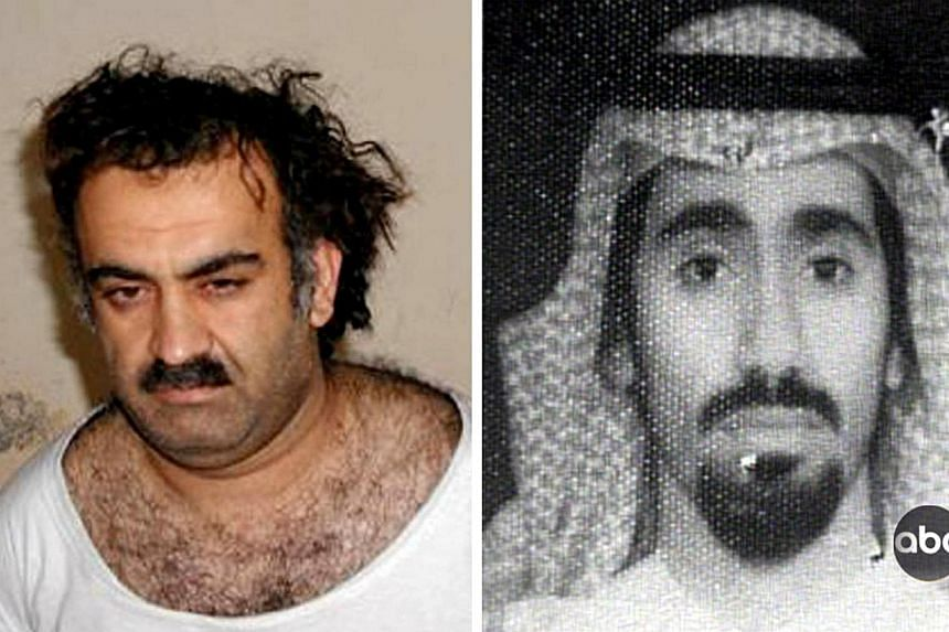 Khalid Sheikh Mohammed, alleged organiser of the Sept 11, 2001 attacks, shortly after his capture in 2003 and an ABC World New Tonight handout photo of Abd al-Rashim al-Nashiri, al-Qaeda's chief of operations for the Gulf and a suspected mastermind o