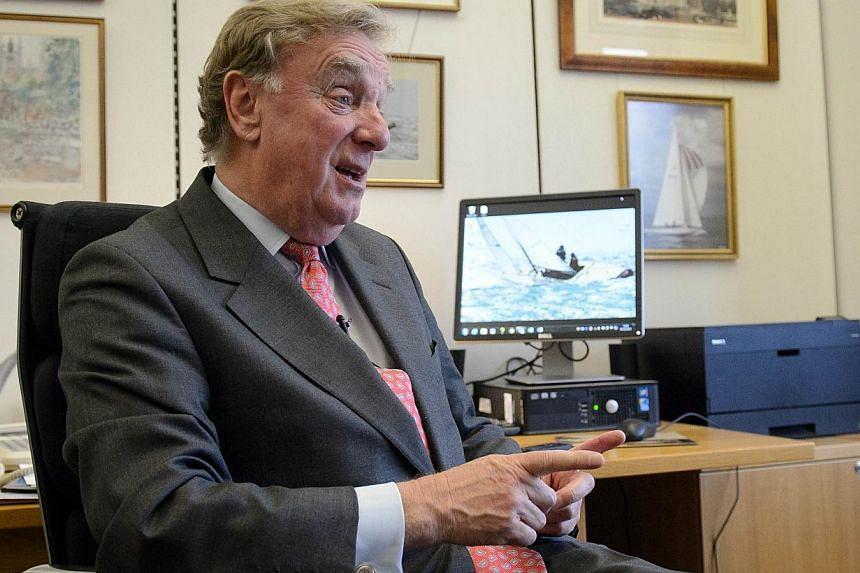 """Richard Ottaway (above), chairman of the House of Commons Foreign Affairs Committee, said in a statement thatChina's refusal to allow lawmakers to visit Hong Kong was """"an insult"""" to Britain.-- PHOTO: AFP"""