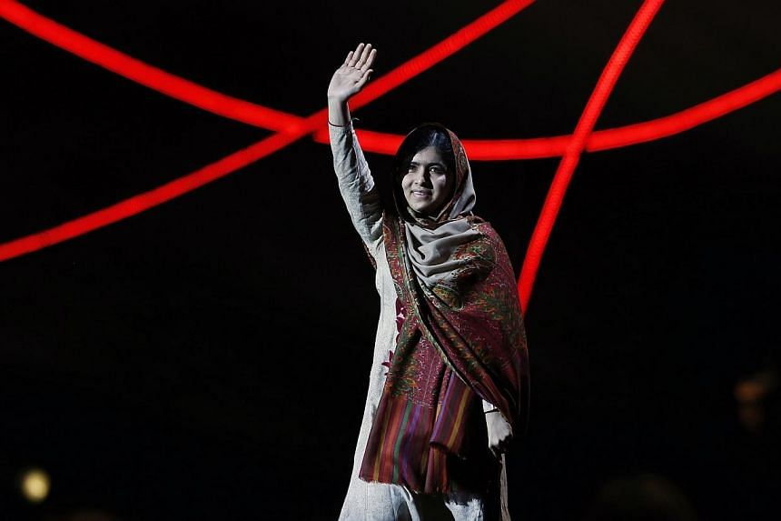Nobel Peace Prize laureate Malala Yousafzai waves as she arrives on stage at the Nobel Peace Prize Concert in Oslo on Dec 11, 2014. In an exclusive interview with Dawn News, Malala Yousafzaisaid that she intends to return to Pakistan next year.