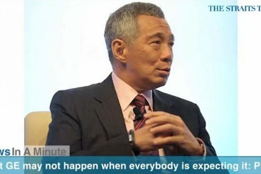 "In today's News In A Minute, we look at how Prime Minister Lee Hsien Loong said during the Asean-Korea summit that Singapore's next General Election may not take place ""when everybody is expecting it"". -- PHOTO: SCREENGRAB FROM RAZORTV"