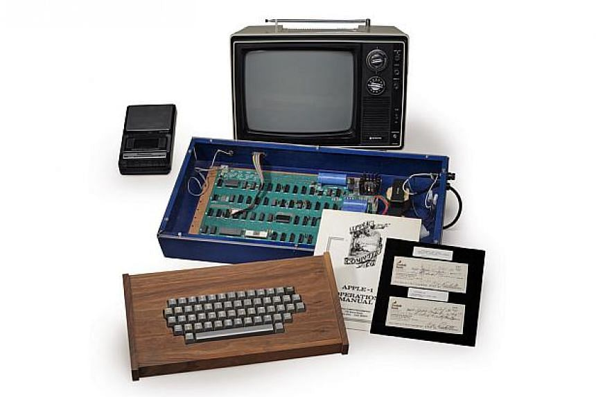 A fully operational Apple computer that company co-founder Steve Jobs sold out of his parents' garage in 1976 for US$600 is seen in this undated handout picture courtesy of Christie's. The so-called Ricketts Apple-1 Personal Computer, named after its