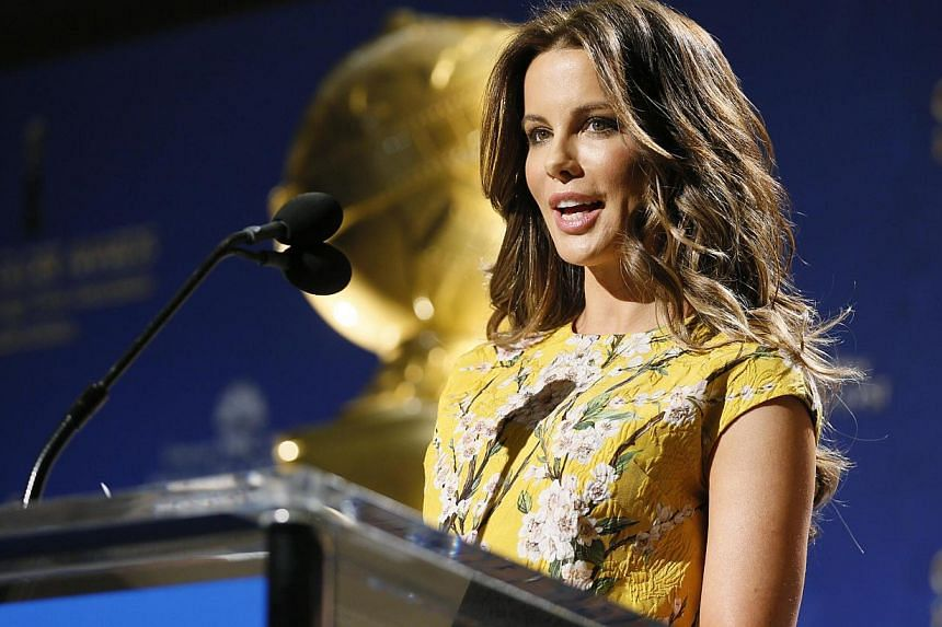 Kate Beckinsale announcing nominees for the 72nd annual Golden Globe Awards in Beverly Hills, California on Dec 11, 2014. The awards will be presented on Jan 11, 2015. -- PHOTO: REUTERS