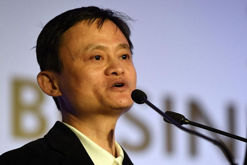 Alibaba founder Jack Ma has added US$25 billion to his fortune this year, riding a 54 per cent surge in the company's shares since its September initial public offering on the New York Stock Exchange. -- PHOTO: AFP