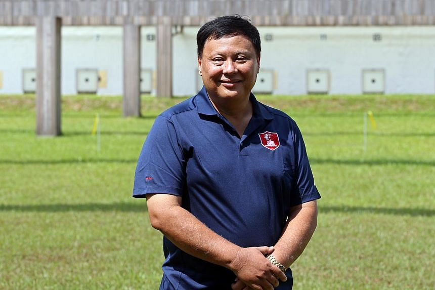 Singapore Shooting Association president Michael Vaz has set his shooters a target of six gold medals at next year's Singapore SEA Games. -- ST PHOTO: SEAH KWANG PENG