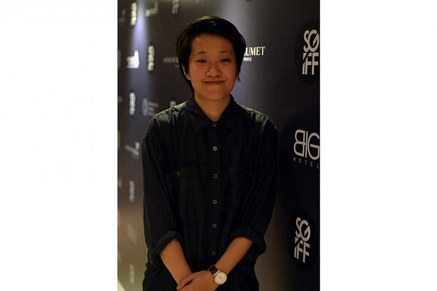 Kirsten Tan at the 25th Singapore International Film Festival (SGIFF) Silver Screen Awards on Dec 13, 2014.Two short films, dealing with the plight of foreigners and made by Singaporeans, won top honours on Saturday night at the Silver Screen A