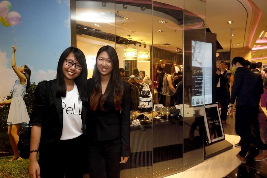SPELL, a fashion apparel shop located at Changi Airport Terminal 3, which is run completely by Singapore Polytechnic students, was relaunched on Saturday after a revamp. -- ST PHOTO:CHEW SENG KIM