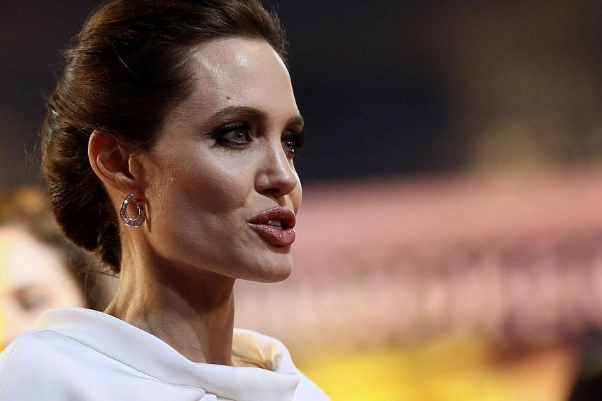 Actress Angelina Jolie at the London premiere of Unbroken on Nov 25. -- PHOTO: REUTERS