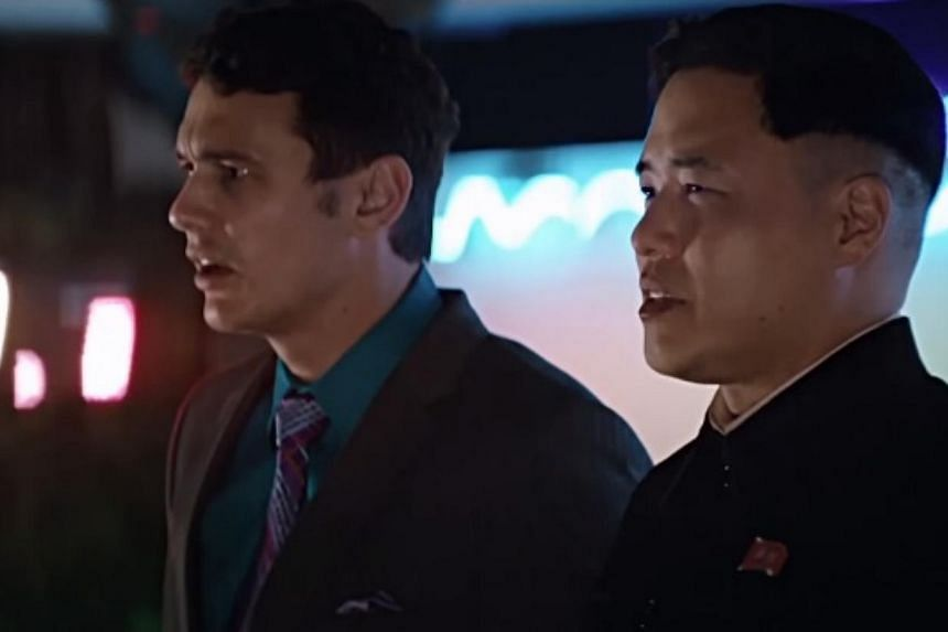 """A still from the trailer from The Interview.Pyongyang has vowed """"merciless retaliation"""" against what it calls a """"wanton act of terror"""" - although it has denied involvement in a massive cyber-attack on Sony Pictures, the studio behind the film.&"""
