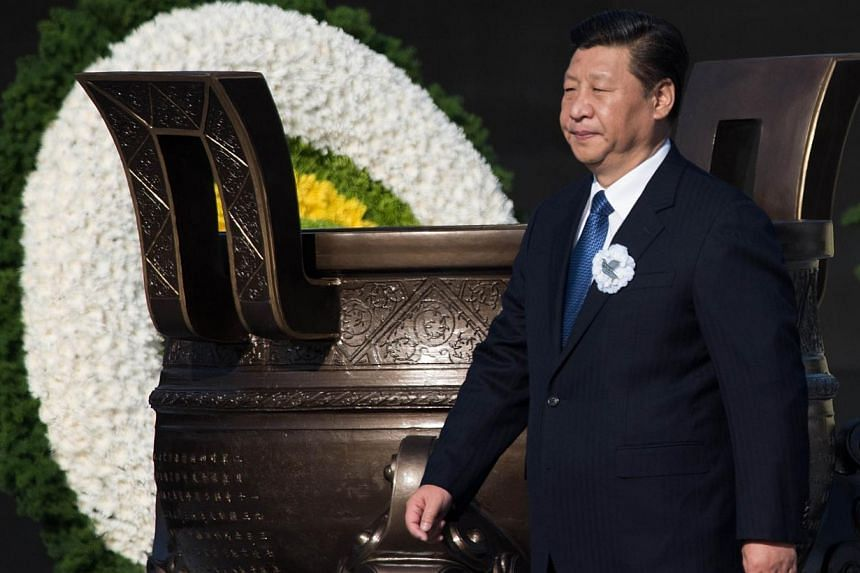 Chinese President Xi Jinping attendomg a memorial ceremony at the Memorial Hall of the Victims in Nanjing Massacre by Japanese Invaders on China's first National Memorial Day for Nanjing Massacre Victims in Nanjing city, east China's Jiangsu province