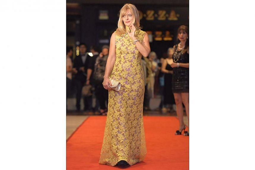 German actress Nastassja Kinski walking the red carpet before the awards ceremony at the Sands Theatre, Marina Bay Sands.-- ST PHOTO: DESMOND FOO