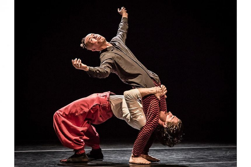 Shintaro Oue (top) and Piotr Giro in BO.LE.RO choreographed by Shintaro Oue. -- PHOTO: BERNIE NG