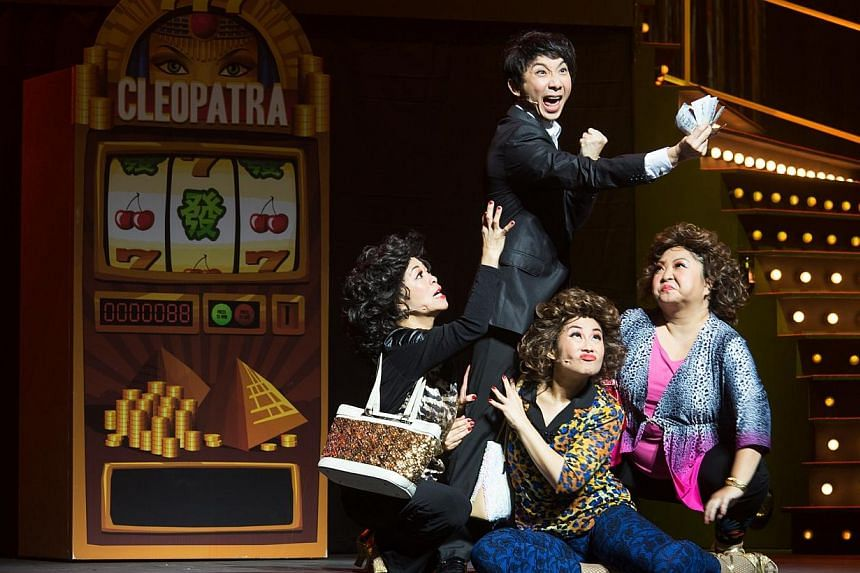 From left, Pam Oei, Hossan Leong (standing), Denise Tan and Selena Tan. -- PHOTO: DREAM ACADEMY