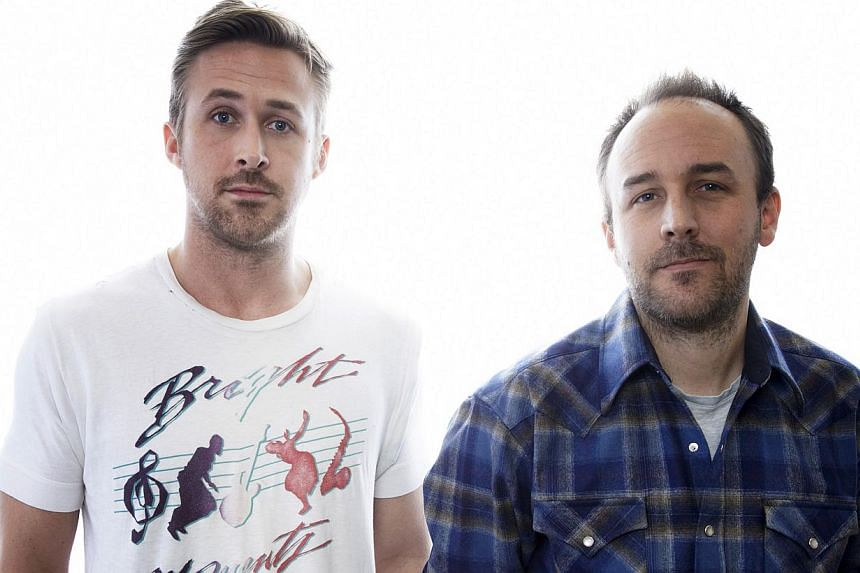 Actor Ryan Gosling (left) and director Derek Cianfrance in New York, on March 10, 2013. -- PHOTO: NEW YORK TIMES NEWS SYNDICATE