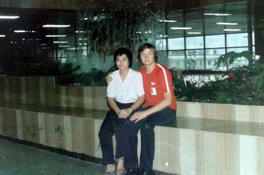 Ms Colleen Turzynski's Singaporean mother Lee Kui Yin and Polish father Kazimierz Turzynski. Her parents and Polish grandfather were murdered in a stabbing attack in New Jersey in 1990. Ms Colleen Turzynski, 26, has moved from Poland to Washington, w