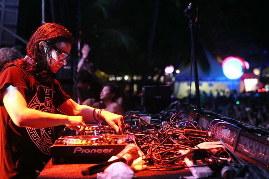 Second day of ZoukOut 2014, at Siloso Beach, Sentosa. DJ Skrillex takes the stage.-- PHOTO:SEAH KWANG PENG