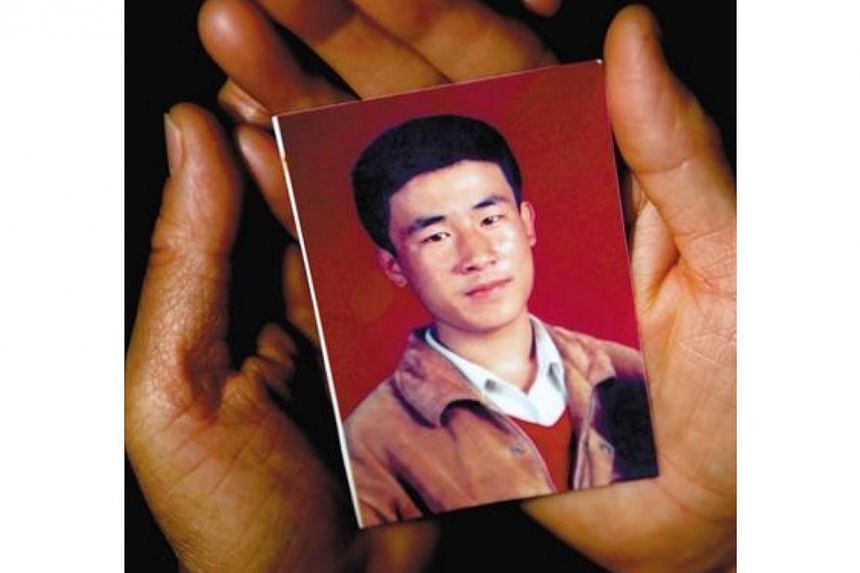 Executed Chinese teenager Hugjiltu, also known as Qoysiletu, has been found innocent of the rape-murder he was accused of committing 18 years ago. -- PHOTO: CHINA DAILY