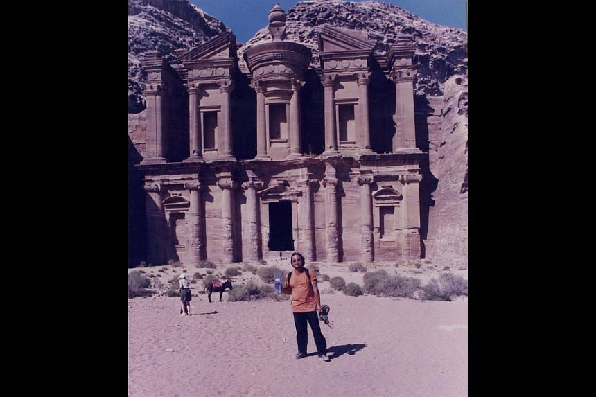 In 1999, Mr Tay quit his job and took off on a backpacking trip to places such as Petra in Jordan (above). -- PHOTO: COURTESY OF TAY LAI HOCK