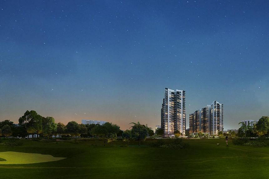 Sales of Executive Condominiums (ECs) rose sharply in November with with 855 units sold out of 1,758 ECs launched - thanks to the 546-unit Lake Life project in Jurong which racked up record sales on the first weekend of its launch. -- PHOTO: LAKE LIF