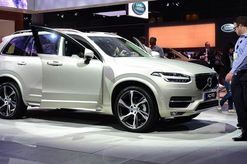 Volvo Car Corp said it will start selling vehicles online as it rolls out new models to compete with German luxury rivals such as BMW. -- PHOTO: AFP