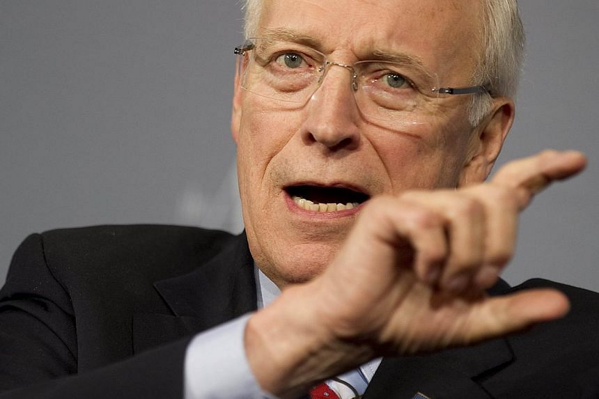 Former US Vice President Dick Cheney yesterday defended America's now-banned programme that tortured Al-Qaeda suspects, praising the CIA operatives who ran it as heroes.-- PHOTO: AFP