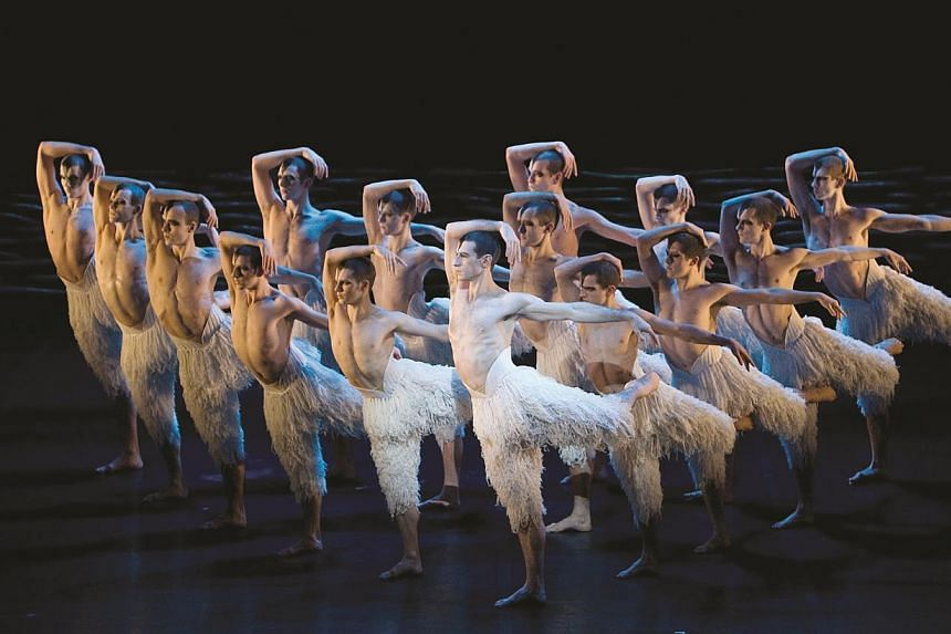 Boundary-pushing performance Far (above) by Wayne McGregor was inspired by the 18th-century Age Of Enlightenment. Headline acts at The Esplanade's da:ns festival included Matthew Bourne's Swan Lake (left), which featured a non-traditional all-male ba