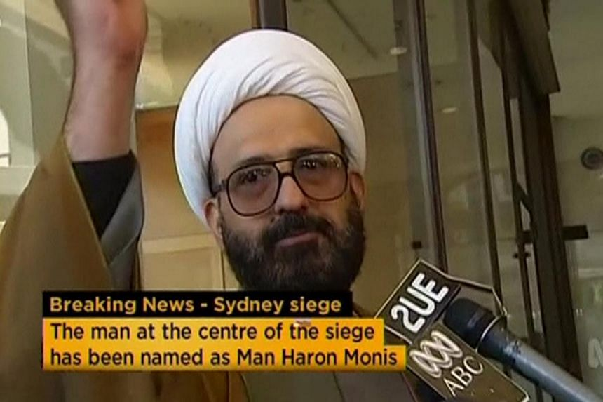 Iranian refugee Man Haron Monis speaks in this still image taken from undated file footage. Australian security forces on Dec 16, 2014 stormed the Sydney cafe where several hostages were being held at gunpoint, in what looked like the dramatic denoue