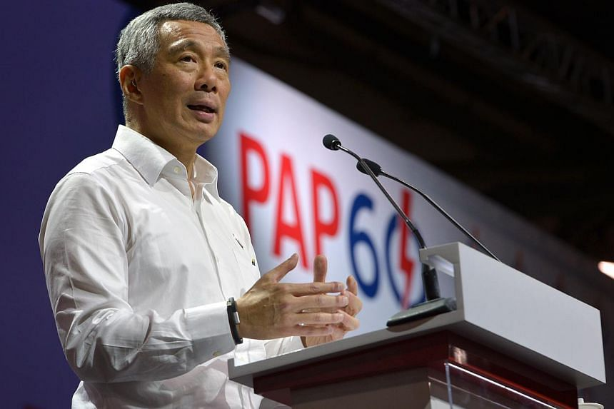 PM Lee Hsien Loong, along with other local leaders, have said that the Sydney cafe hostage-taking situation showed that the threat from terrorism remained a cause for concern and that Singaporeans need to be alert. -- PHOTO: ST FILE