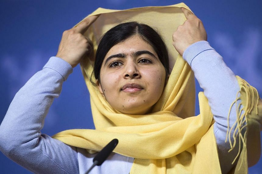 "Nobel peace laureate Malala Yousafzai, who was shot in the head by the Taleban in 2012, said she was ""heartbroken"" by ""the senseless and cold blooded killing"" of scores of children by Taleban militants on Tuesday, Dec 16, 2014, in Pakistan. -- P"