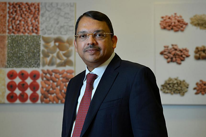 Olam CEO Sunny Verghese said the proposed acquisition is an opportunity for Olam Cocoa to become an integrated global leader. -- PHOTO: ST FILE