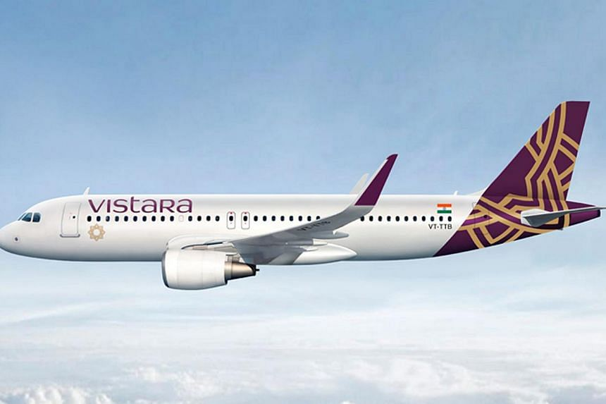 Indian carrier Vistara, a tie-up between Singapore Airlines (SIA) and Indian conglomerate Tata, has obtained approval to start operations. -- PHOTO: SIA