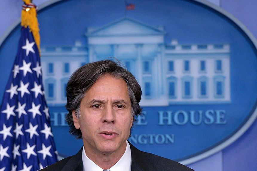 This July 28, 2014 file photo shows Deputy National Security Advisor Tony Blinken speaking at the White House in Washington, DC. The US Senate on Dec 16, 2014 confirmed Mr Blinken as deputy secretary of state. -- PHOTO: AFP