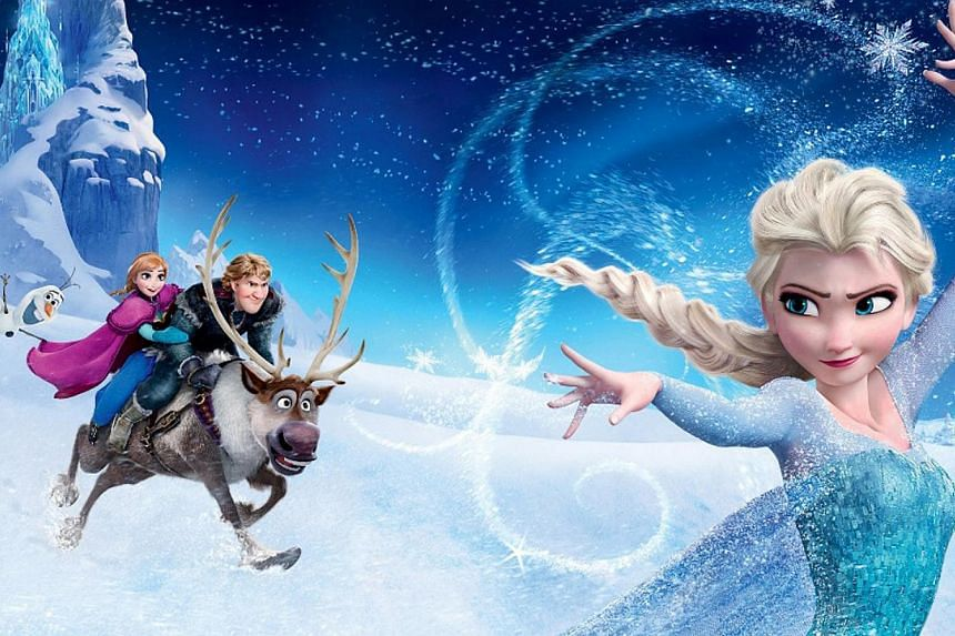 The study analysed top-grossing children's cartoons from Snow White in 1937 to 2013's Frozen (pictured). -- PHOTO:STARHUB