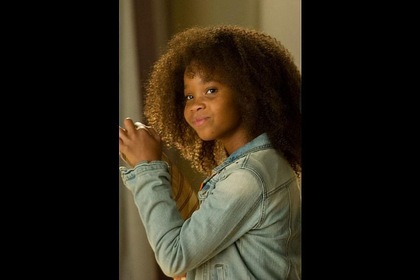 Quvenzhane Wallis plays the plucky orphan adopted by Jamie Foxx in Annie. -- PHOTO: GOLDEN VILLAGE PICTURES