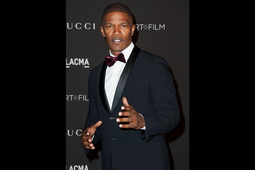 Jamie Foxx (above), refuting that success is hard to come by without talent such as his. -- PHOTO: AGENCE FRANCE-PRESSE