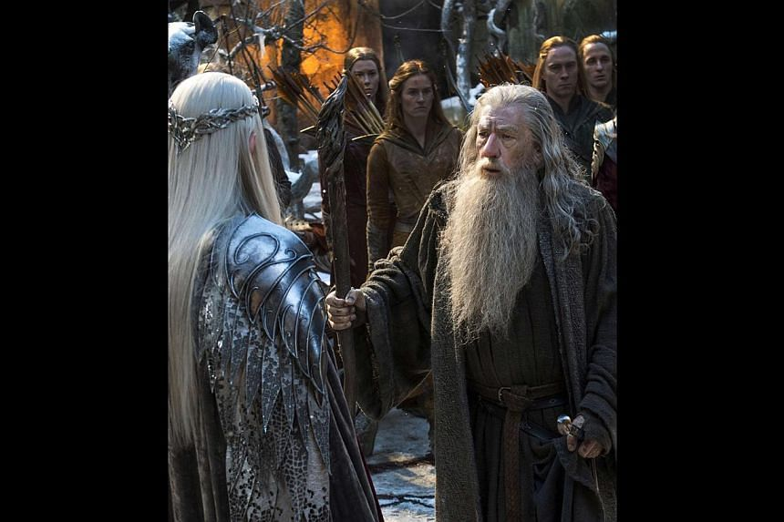 Evangeline Lilly plays feisty elf Tauriel (right), who fights to defend the dwarf she has fallen in love with. The Hobbit: The Battle Of The Five Armies will see characters such as the dwarves and hobbit Bilbo Baggins (left), Legolas (above, played b