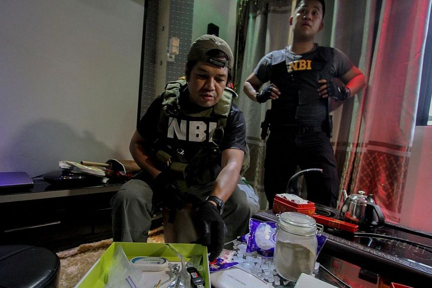 Police uncover prohibited items like stripper bars, drugs and jacuzzis inside the luxury cells of convicted drug dealers. -- PHOTO: AFP