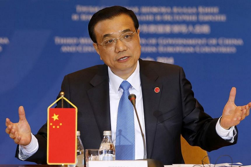 China's Premier Li Keqiang speaks during the Third Meeting of Heads of Government of China and Central and Eastern European Countries in Belgrade Dec 16, 2014. -- PHOTO: REUTERS