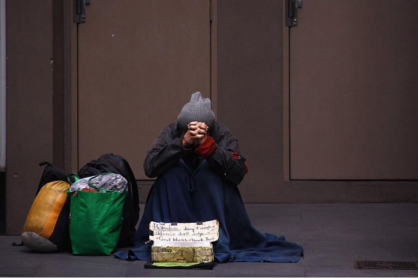 The online fundraising page reached over £16,500 (S$33,830) on Wednesday after student Dominique Harrison-Bentzen's campaign went viral. The homeless man, Robbie, had been homeless for seven months in the town of Preston in northern England and was