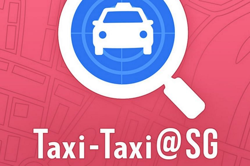A screen grab of the new Taxi-Taxi@SG app