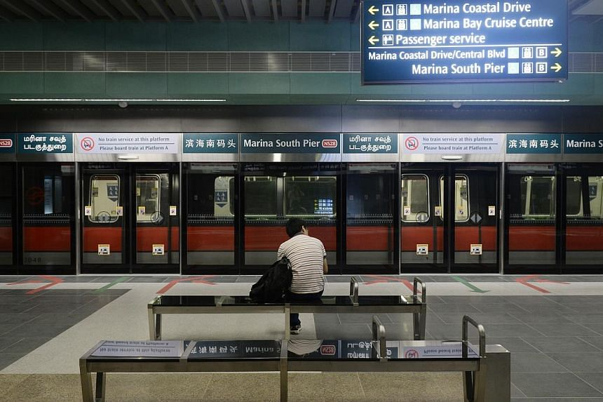 The Land Transport Authority Thursday released an update on Singapore's MRT network, summarising the progress made in 2014 and outlining upcoming changes to the rail network. -- PHOTO: ST FILE