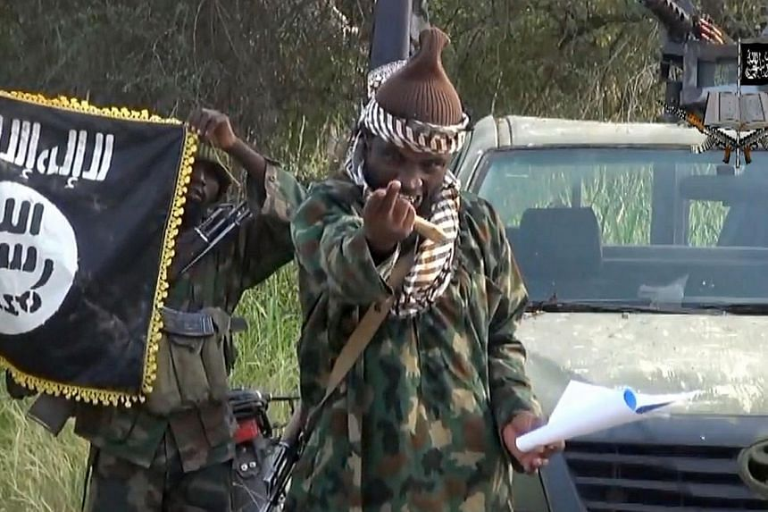 A screengrab taken on Oct 2, 2014, from a video released by the Nigerian Islamist extremist group Boko Haram and obtained by AFP shows the leader of the Nigerian Islamist extremist group Boko Haram, Abubakar Shekau.Cameroon's army said Thursday