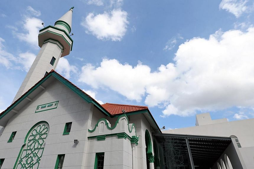 The National Heritage Board (NHB) announces the gazette of Alkaff Upper Serangoon Mosque as the 68th National Monument in Singapore. -- ST PHOTO: NEO XIAOBIN