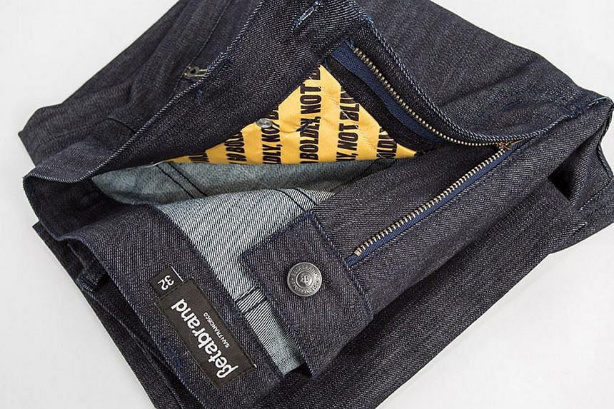 Jeans by Betabrand that will be able to block RFID signals. -- PHOTO: BETABRAND