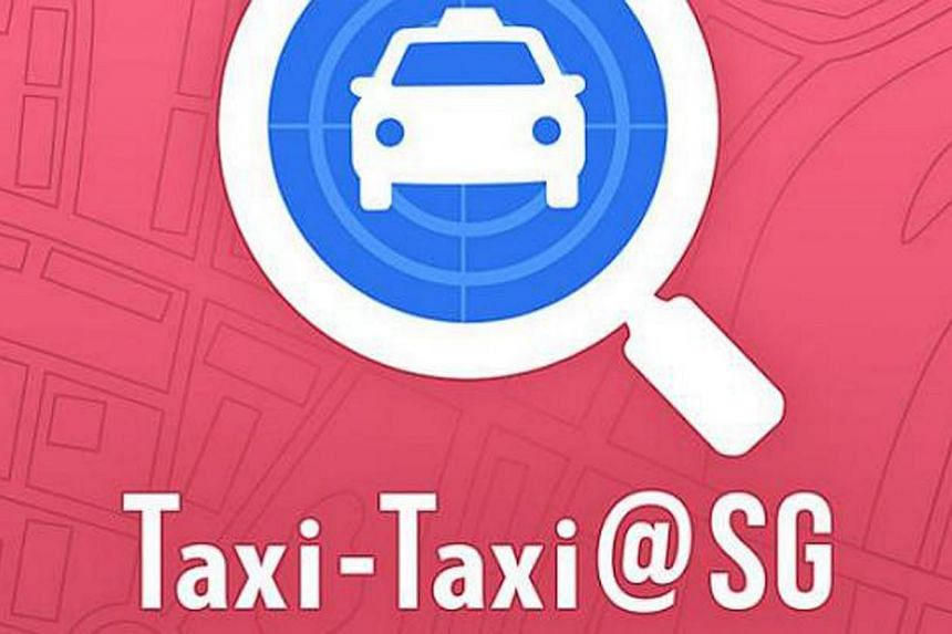 Unlike other taxi apps on the market, Taxi-Taxi@SG does not allow users to book a cab. -- PHOTO: LTA