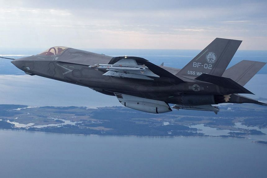 A US Marine Corps F-35 Joint Strike Fighter in a Feb 22, 2012 file photo. South Korea will not conduct maintenance of its new fleet of F-35 fighters in Japan, a Korean official said on Dec 18, 2014. -- PHOTO: REUTERS