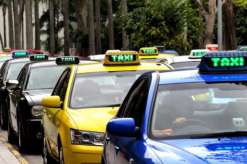 LTA's app shows the location of all available taxis from Singapore's entire fleet of 28,000, and helps street commuters find out whether there are any available taxis in their vicinity. -- PHOTO: ST FILE
