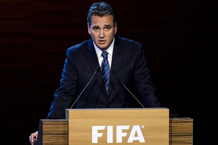 A file photo taken on June 11, 2014 shows Fifa ethics prosecutor Michael Garcia delivering a speech in Sao Paulo. Former US prosecutor Michael Garcia resigned Wednesday as Fifa's chief corruption investigator in protest at the football governing