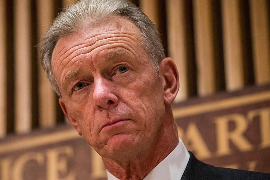 Britain thwarted a Sydney-style 'lone wolf' attack just days before it was due to happen, London's police chief, Sir Bernard Hogan-Howe (above), said on Wednesday, saying his force had foiled five terror plots in the last four months alone. -- P