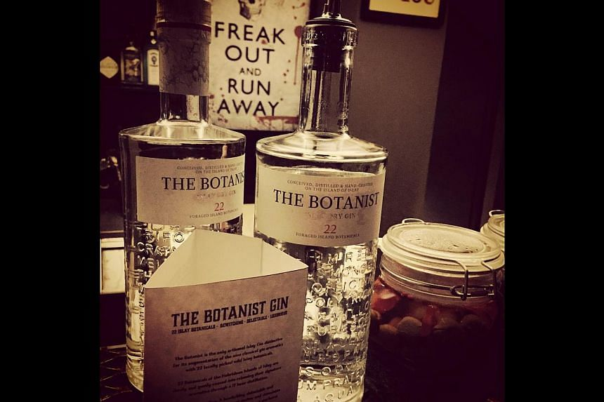 The Botanist Gin (above) is served at Copper Singapore. -- PHOTO: COPPER SINGAPORE