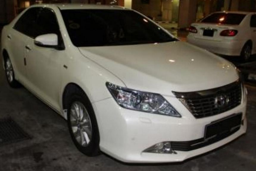 Car in which a packet of heroin was recovered at Tuas Checkpoint.-- PHOTO:ICA/CNB